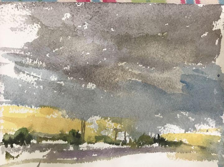 Thurderstom - Watercolour by Margaret Lor