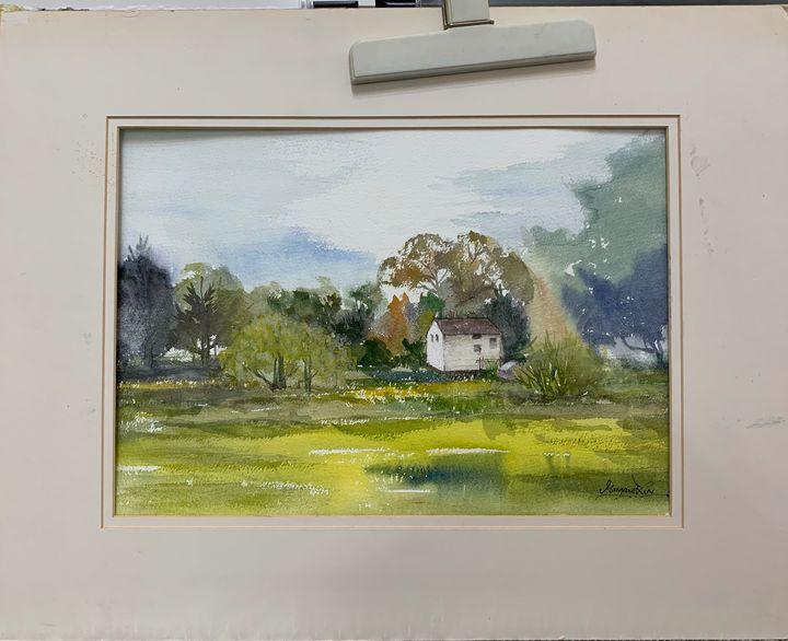 Cottage - Watercolour by Margaret Lor