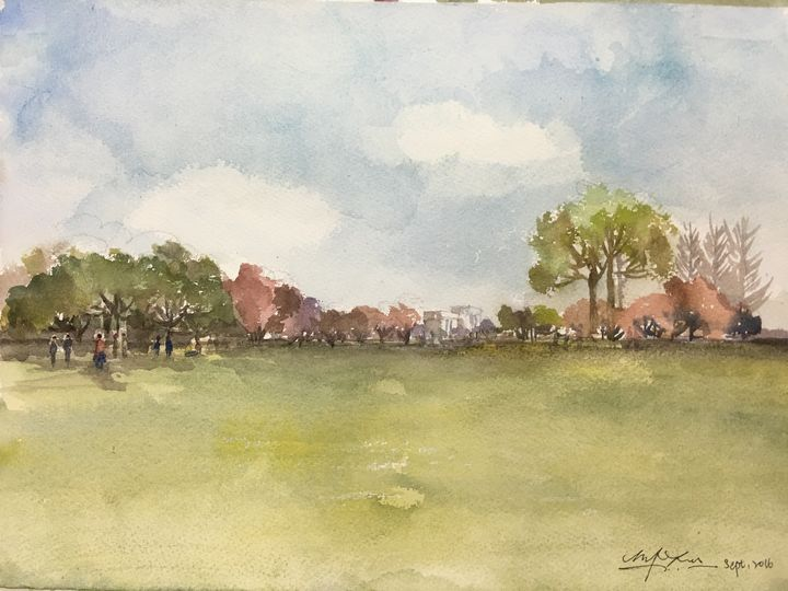 Summer in Japan - Watercolour by Margaret Lor