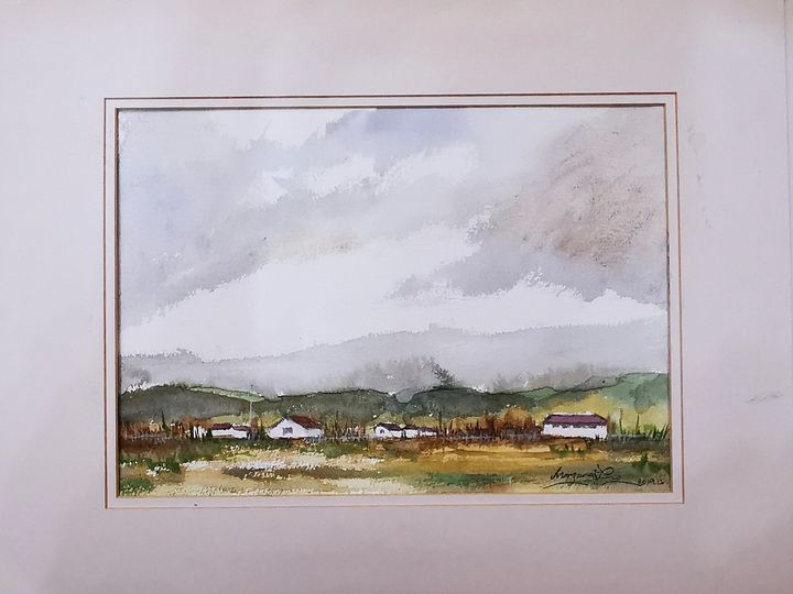 Field - UK - Watercolour by Margaret Lor
