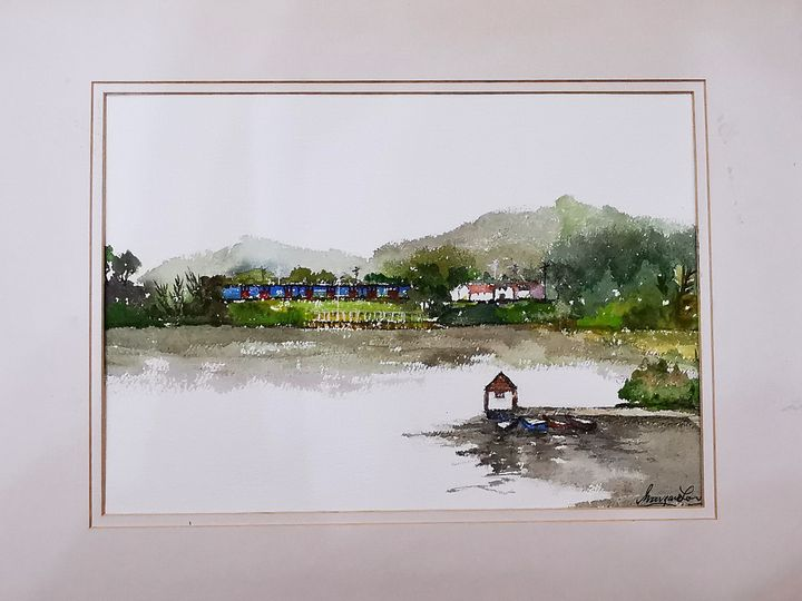 Train - Watercolour by Margaret Lor