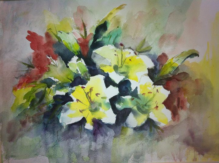 Still Life, by Margaret Lor, HK - Watercolour by Margaret Lor