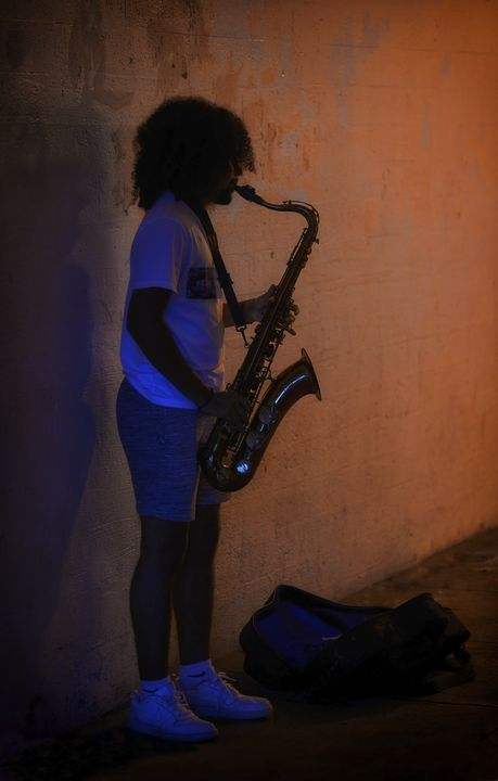 Late Night Sax - Michael Barone Photography