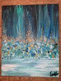 original painting, Hues of Blue