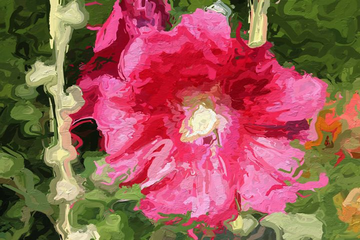 Painted hibiscus - PrintArt.US