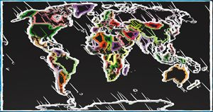 Abstract Map of World