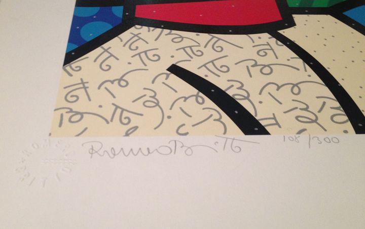 romero britto - serigraphs