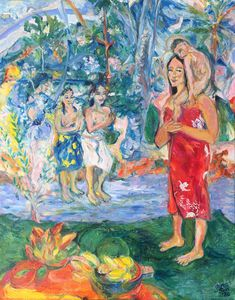 Gauguin's Tahitian Mother Mary & Ch