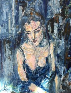 Blue Night Cafe (It's Over...) - Gina Son's Iconic 80's Image Art