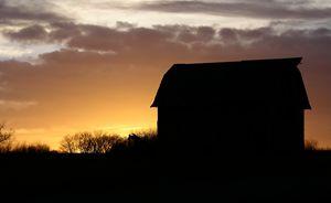 Barn st Sunset