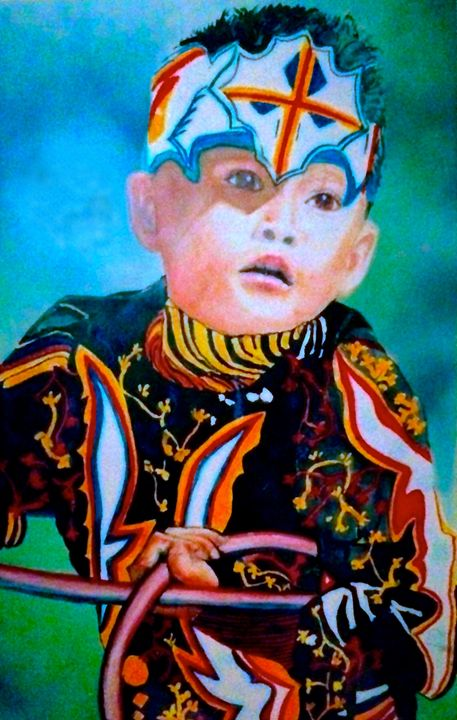 Native American Boy - Paintings by Breen Design