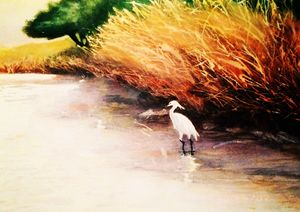 The Great Egret - Paintings by Breen Design