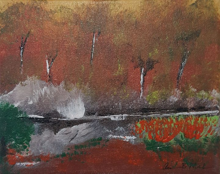 Autumn by the Creekside - Aaron B Mahan