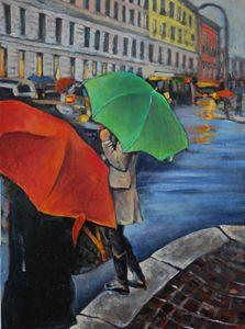 Rain in Milan