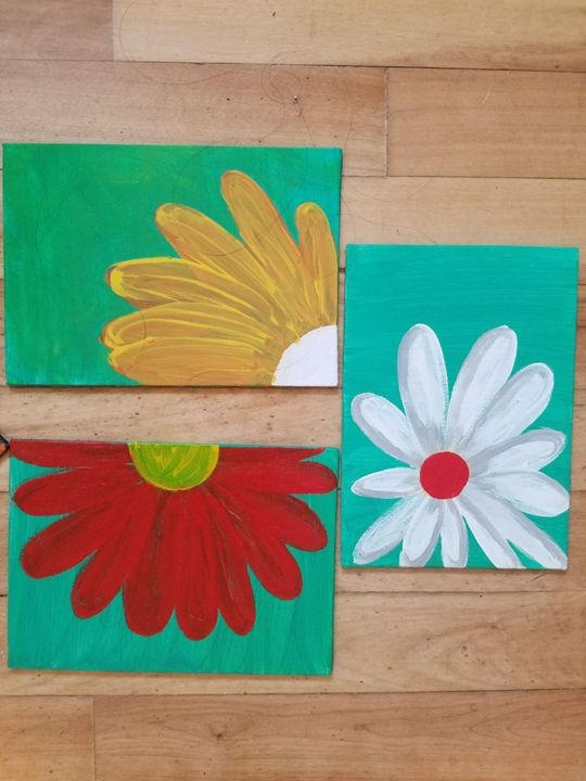 3 Daisies - Seema's Creation