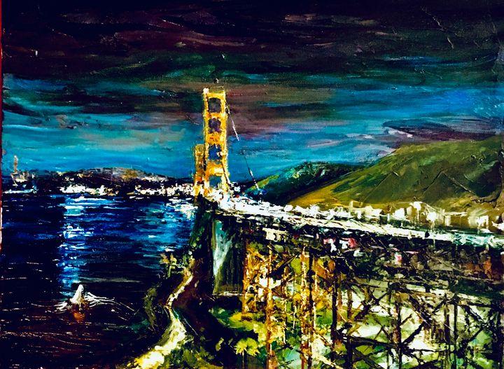 Golden Gate After Dark - Amy Westphal Fine Art