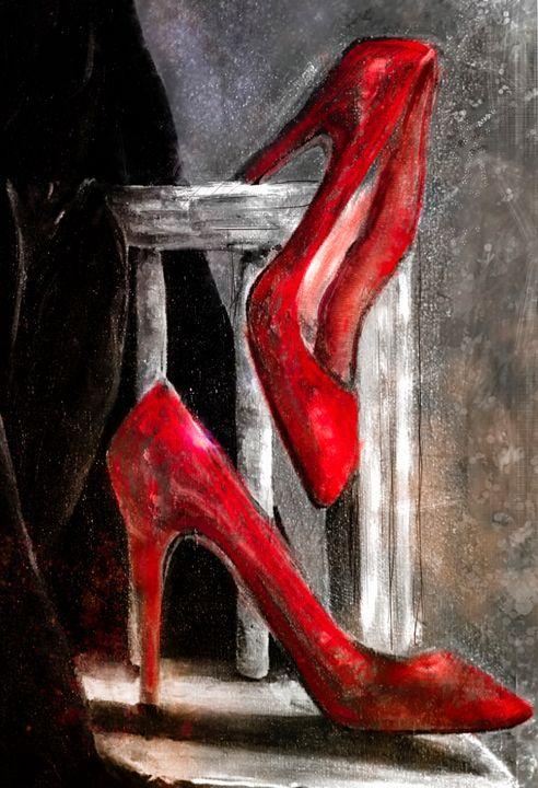 Red Stilettos - Amy Westphal Fine Art