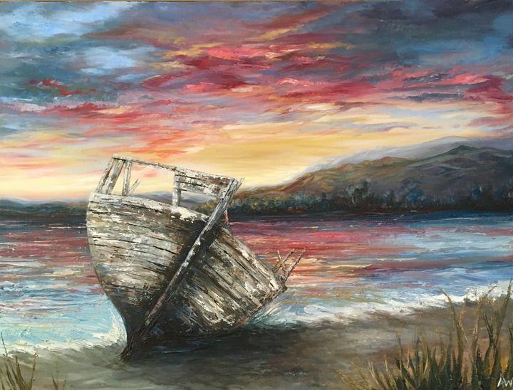 Lonely Boat - Amy Westphal Fine Art