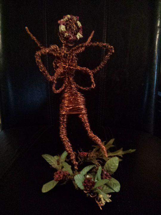 copper fairy - Fairy Garden
