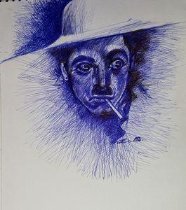 Charlie Chaplin famous portrait