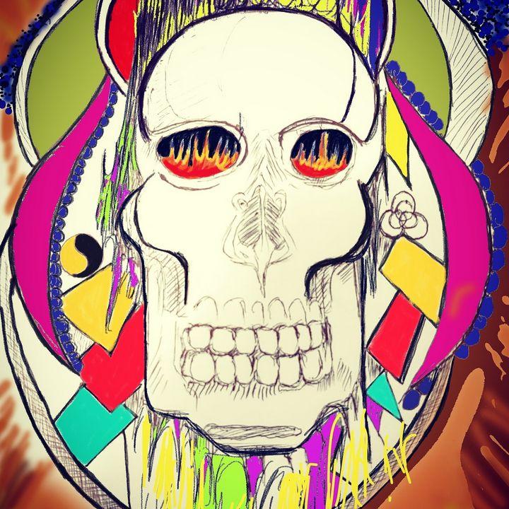 Blazing Skull - JmurArt