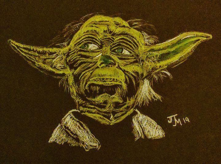 Yoda black - JmurArt