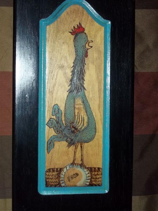 Roy-Chicken Folk Art - Mr. Lane's Art
