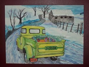 Bringing Home Christmass. - Mr. Lane's Art
