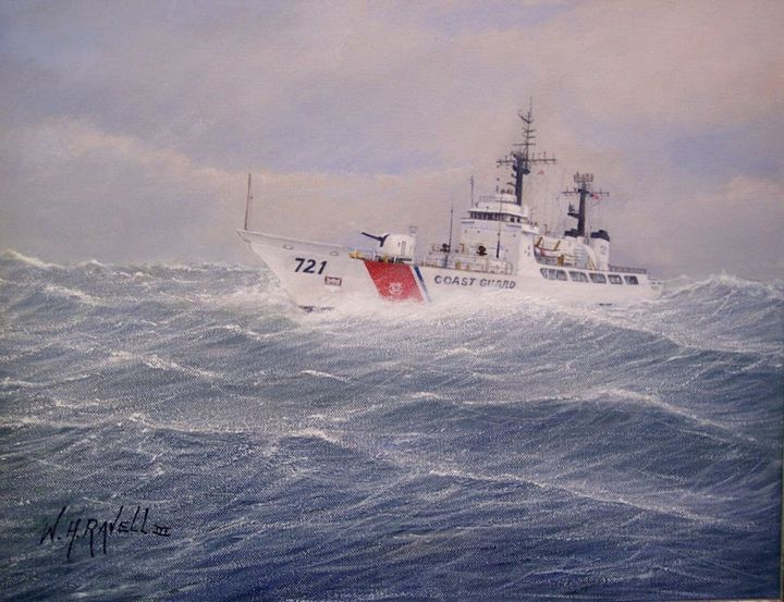 U. S. Coast Guard Cutter Gallitin - RaVell Fine Art Studio