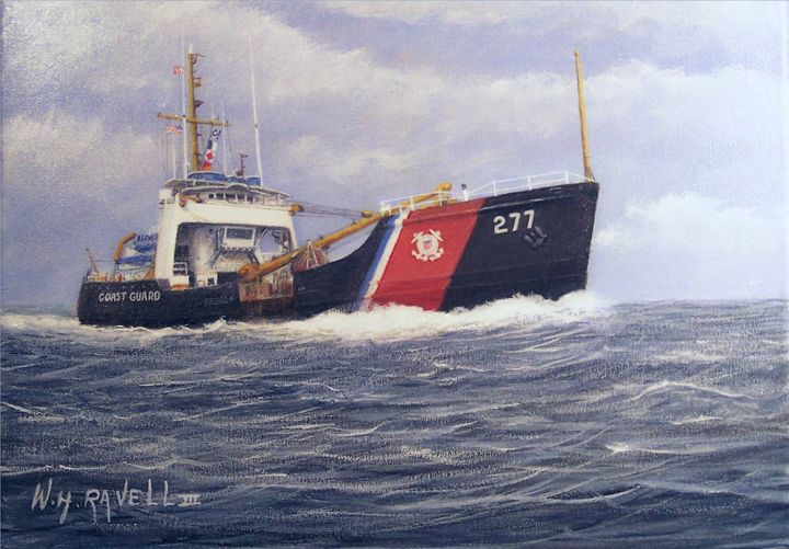 Coast Buoy Tender - RaVell Fine Art Studio