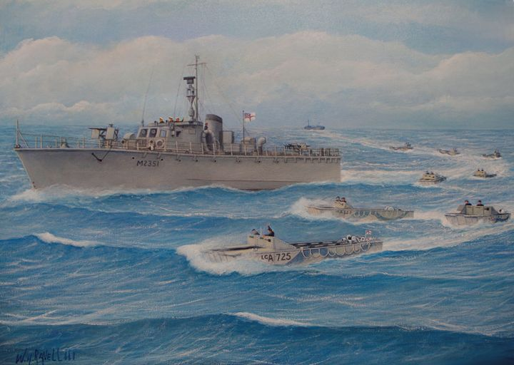 Flotilla 25 (LCA) Royal Marines - RaVell Fine Art Studio