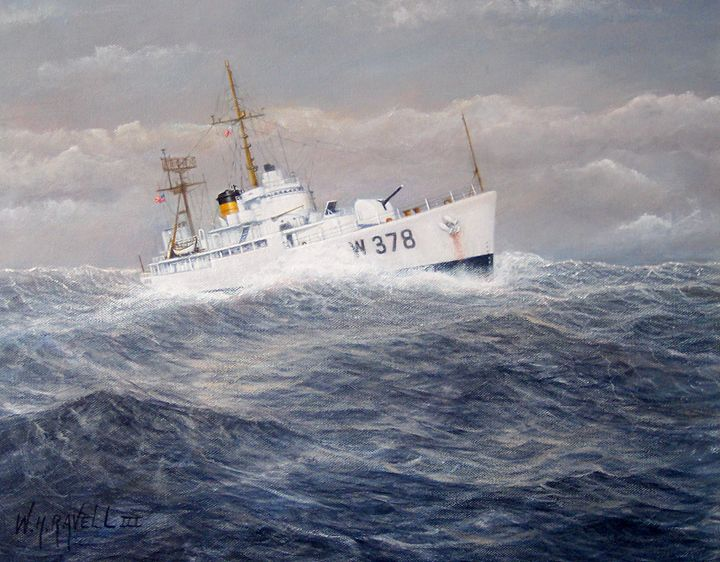 U. S. Coast Guard Cutter Hsalfmoon - RaVell Fine Art Studio