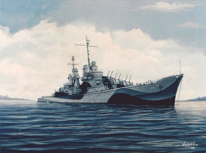 USS San Juan (CL-54) - RaVell Fine Art Studio