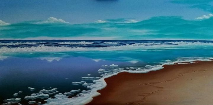 Flooded beach - Seascapes