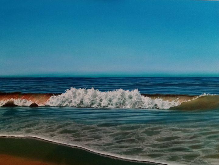 Beach White Breaker - Seascapes