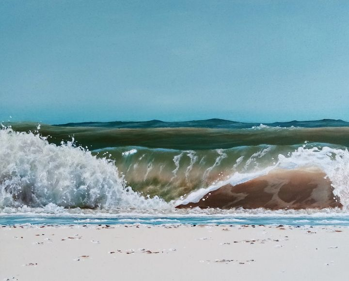 Waves White surf - Seascapes