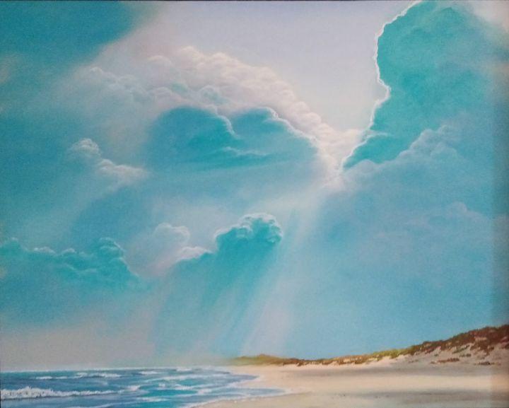 Cloudy Beach - Seascapes