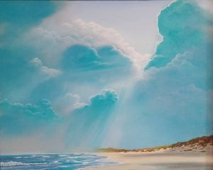 Cloudy Beach - Seascapes