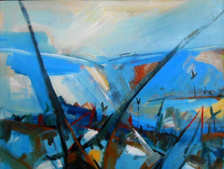Landscape with boats - Sandro Maciel