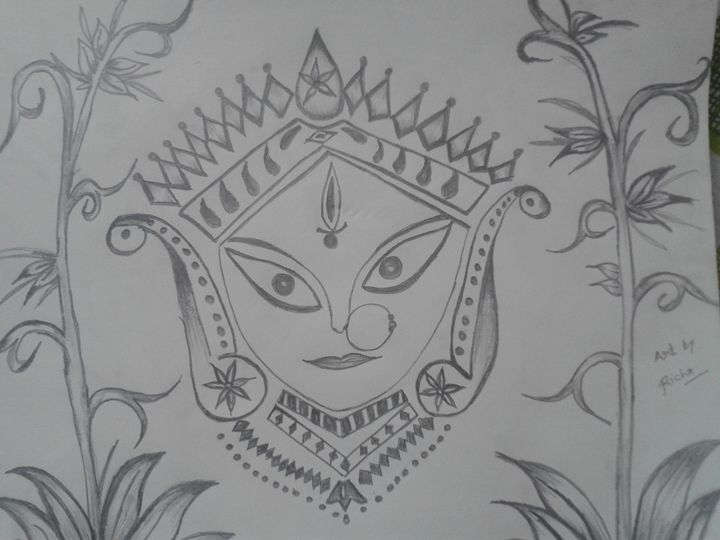 Maa Durga Sketching - Painting is like Meditation.