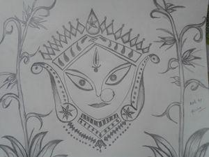 Maa Durga Sketching