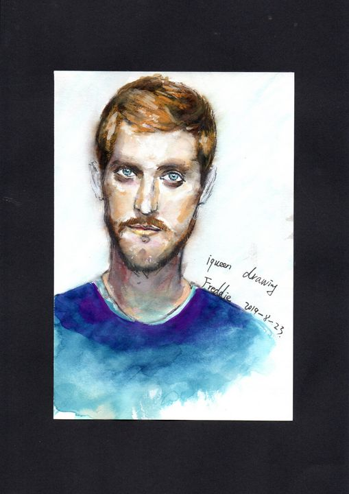 sketch of my friend - iaking artist