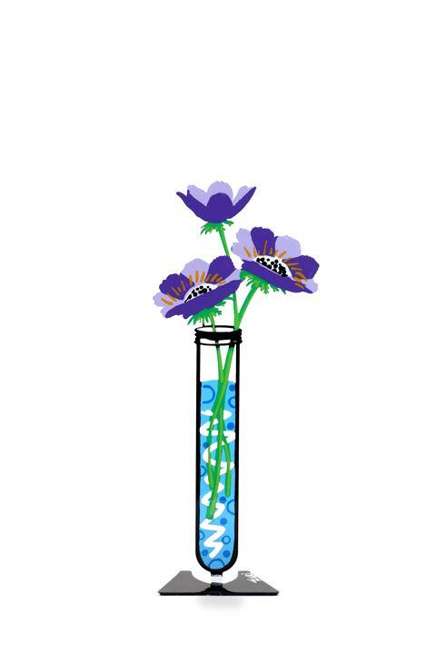 Anemone Flower Tube Purple Tzuki - Tzuki Design