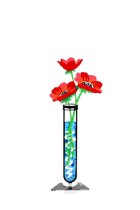 Anemone Flower Tube Red Tzuki - Tzuki Design