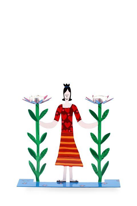 Shabbat Candle Holders Pop Art Tzuki - Tzuki Design