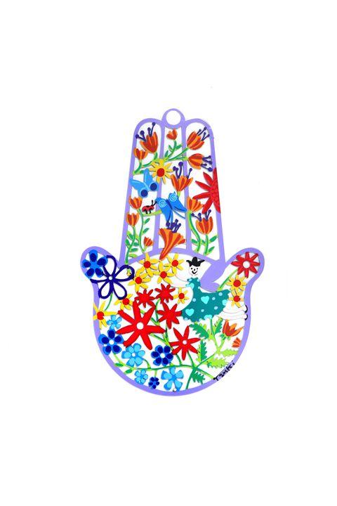 Spring Hanging Hamsa Hand Tzuki - Tzuki Design