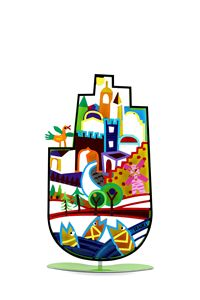 Jerusalem Hamsa Hand Blessing Tzuki - Tzuki Design