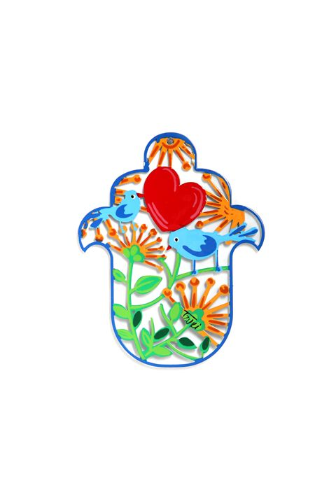 Small Bird Heart Hamsa Hand Tzuki - Tzuki Design