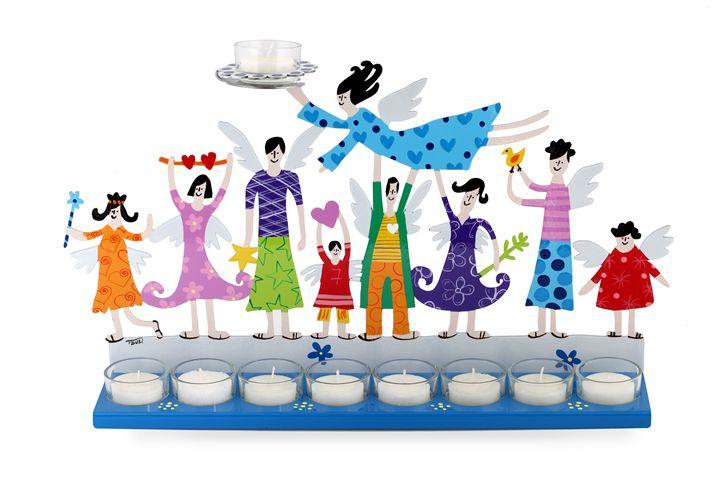 Family Menorah Judaica Art Tzuki - Tzuki Design