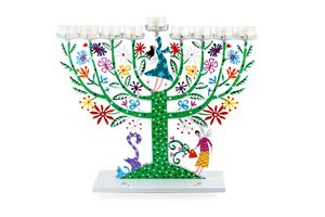 Family Tree Menorah Candle Holder - Tzuki Design